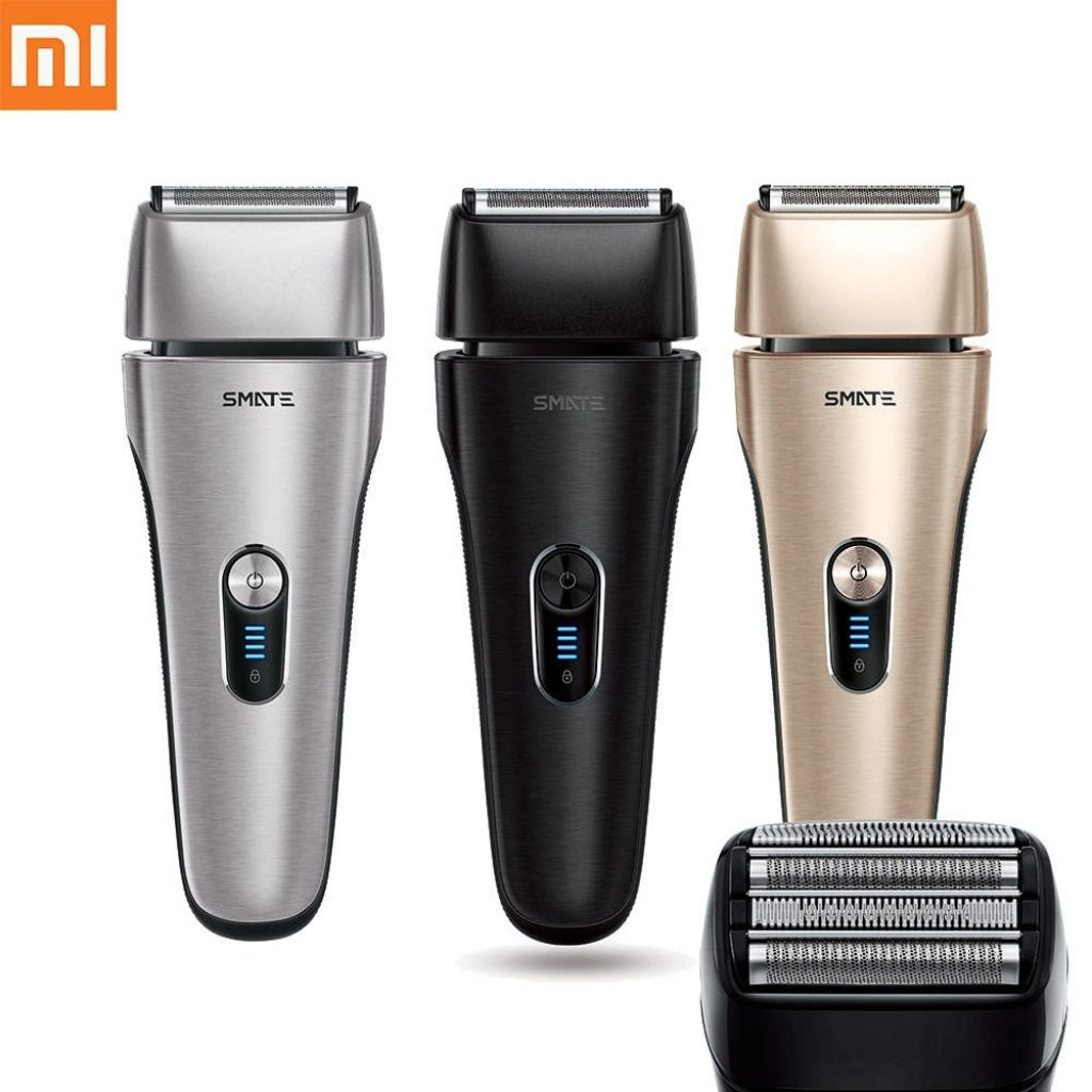 coupon, banggood,SMATE IPX7 Waterproof Fast Charging Electric Shaver 4 Shaver Blades System Low Noise from XIAOMI Ecosystem