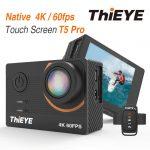 Kupon, banggood, ThiEYE T5 Pro 4K Ultra HD Video Canlı Akışı WiFi Sabitleyici EIS Uzaktan Kumanda Su Geçirmez Spor Eylem Kamera