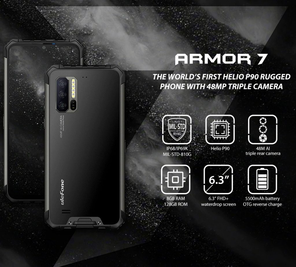 kupon, gearbest, Ulefone Armor 7 4G Phablet Smartphone