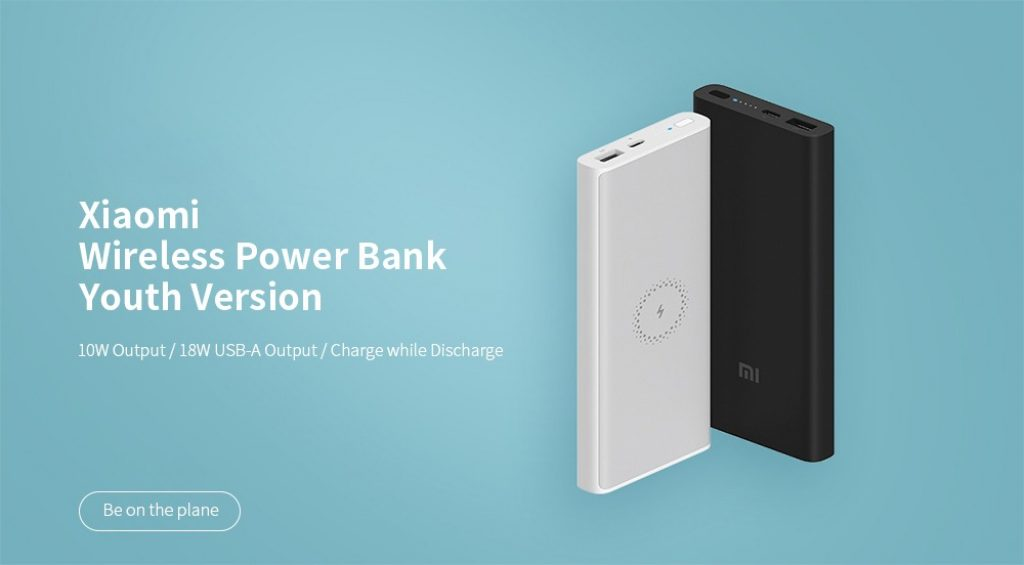coupon, banggood, Xiaomi 10000mAh Wireless Power Bank 10W Qi Fast Wireless Charger