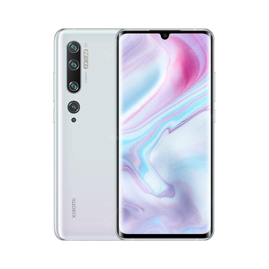 クーポン、ギアベスト、Xiaomi Mi Note 10(CC9 Pro)108MP Penta Camera Phoneホワイト