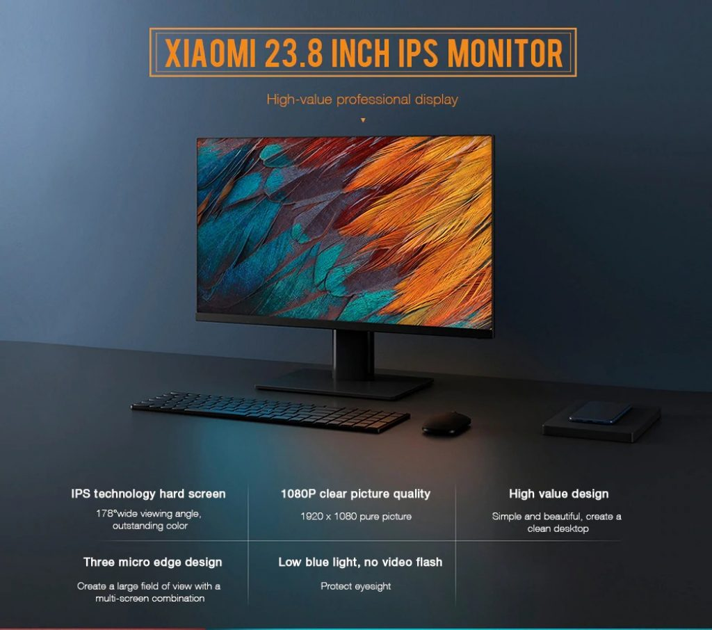 coupon, gearbest, Xiaomi XMMNT238CB 23.8 Inch IPS Monitor