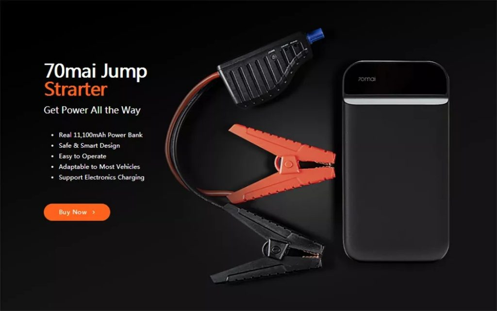 banggood, kupon, gearbest, 70mai 11100mAh Lithium Car Lithium Jump Starter Multifunction Powerbank Emergency Battery Booster mula sa Xiaomi youpin