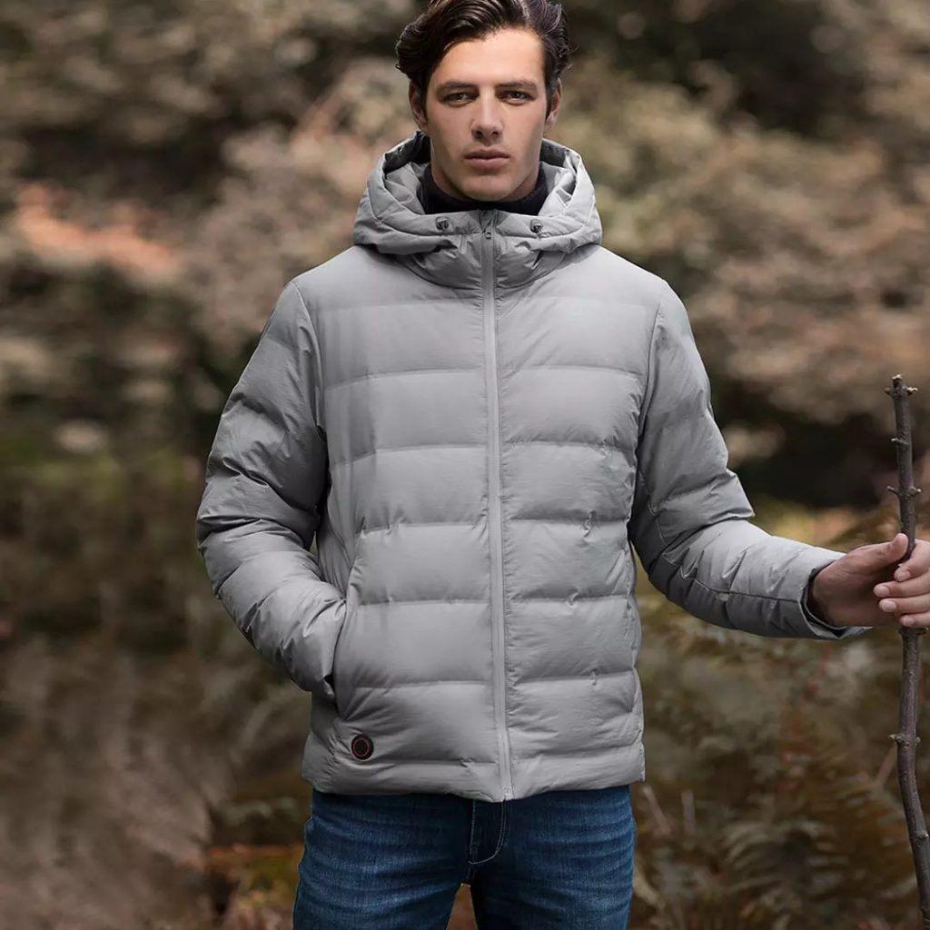 kupon, banggood, Cotton Smith Smart Intelligent Heating Goose Down Jacket Dari Xiaomi Youpin USB Electric Charging