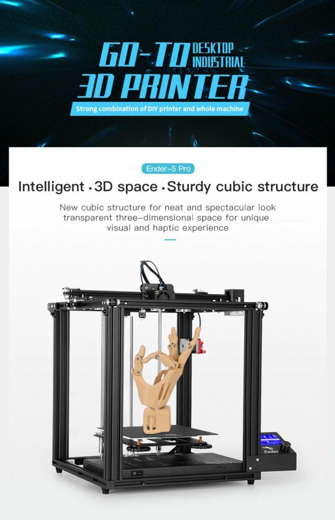 टॉमटॉप, कूपन, गियरबेस्ट, Creality 3D Ender-5 Pro अपग्रेडेड 3D प्रिंटर