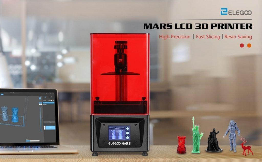 kupon, gearbest, ELEGOO Mars UV Fotoğraflı LCD MSLA 3D Yazıcı