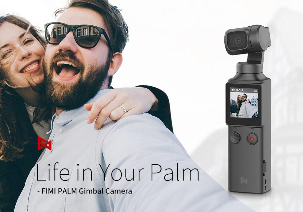 קופון, banggood, FIMI PALM 3-Axis 4K HD כף יד מייצב כיס מצלמה Gimbal