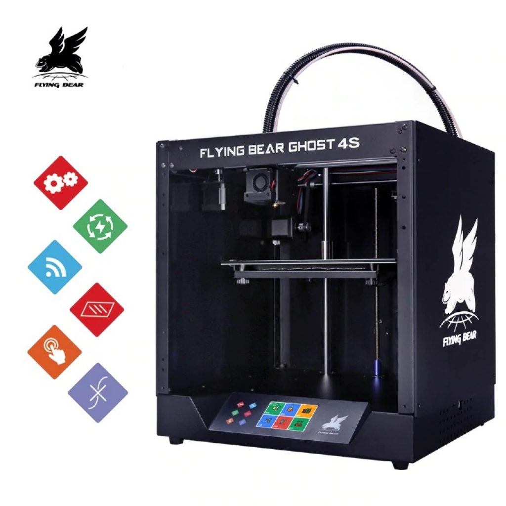 coupon, gearbest,Flying Bear Ghost 4S Full Metal Frame High Precision DIY 3D KIT Printer with Glass Platform