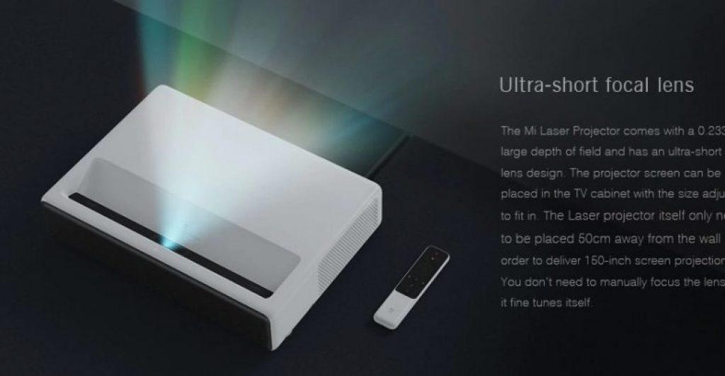 κουπονιού, banggood, [νέα έκδοση] Xiaomi MIJIA Ultra σύντομη προβολέα λέιζερ παγκόσμια έκδοση