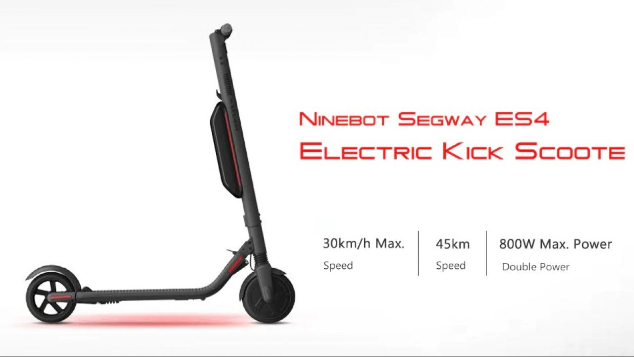 469 With Coupon For Ninebot Segway Es4 Folding Electric Kick Scooter Front And Rear Shock Absorption From Xiaomi Mijia Eu Warehouse From Gearbest China Secret Shopping Deals And Coupons