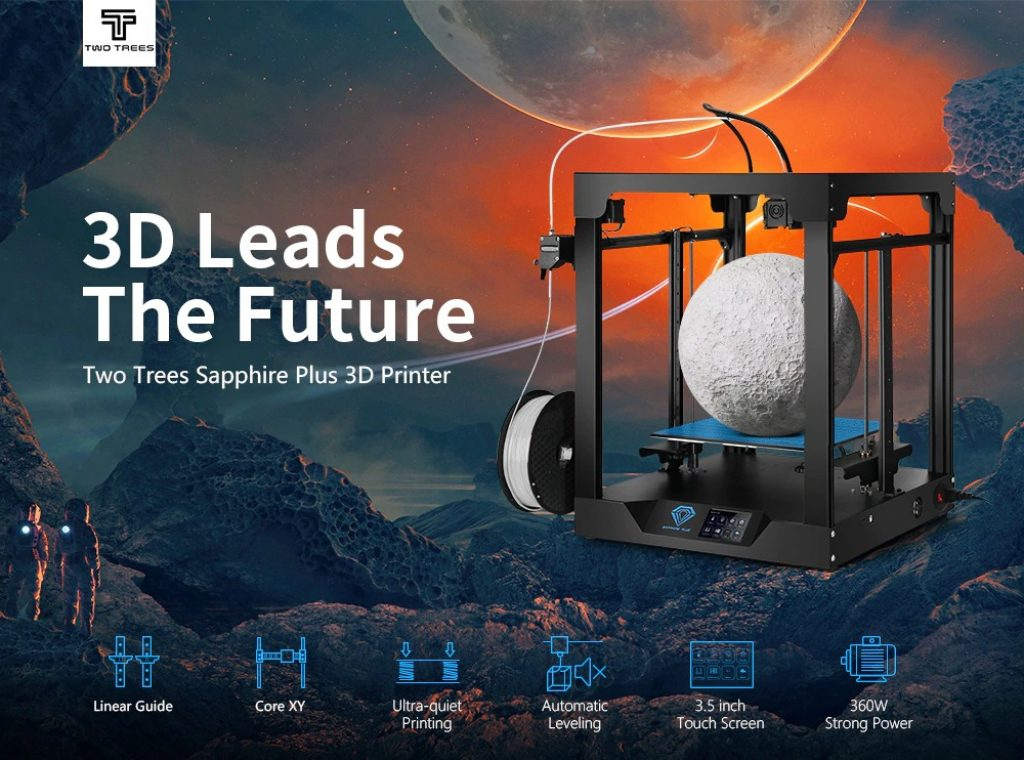 coupon, gearbest, Two Trees Sapphire Plus Metal 3D Printer