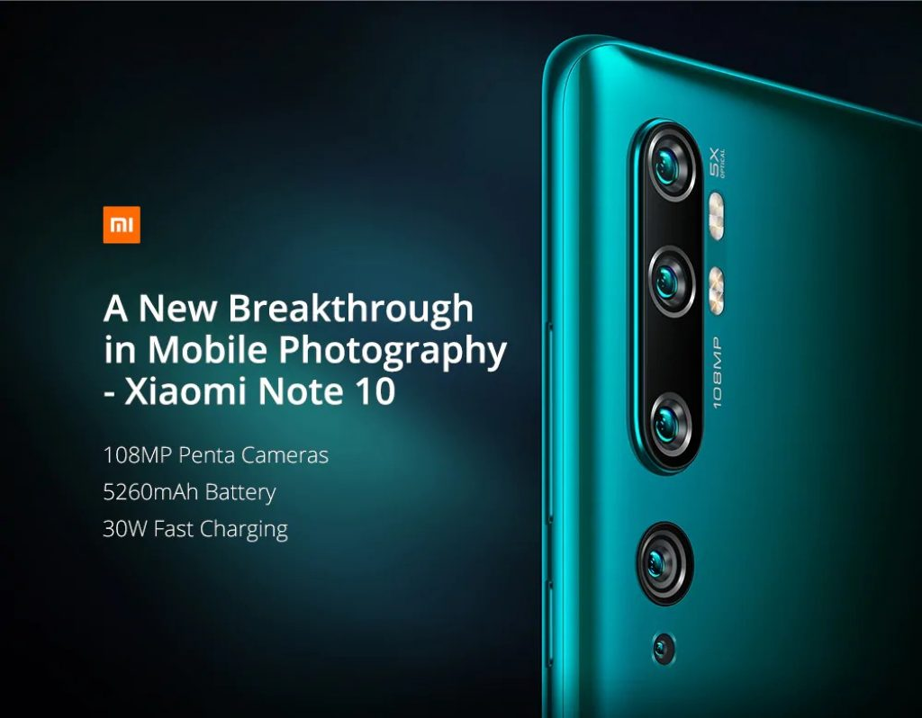 купон, gearbest, Xiaomi Mi Note 10 (CC9 Pro) 108MP Penta Camera Phone