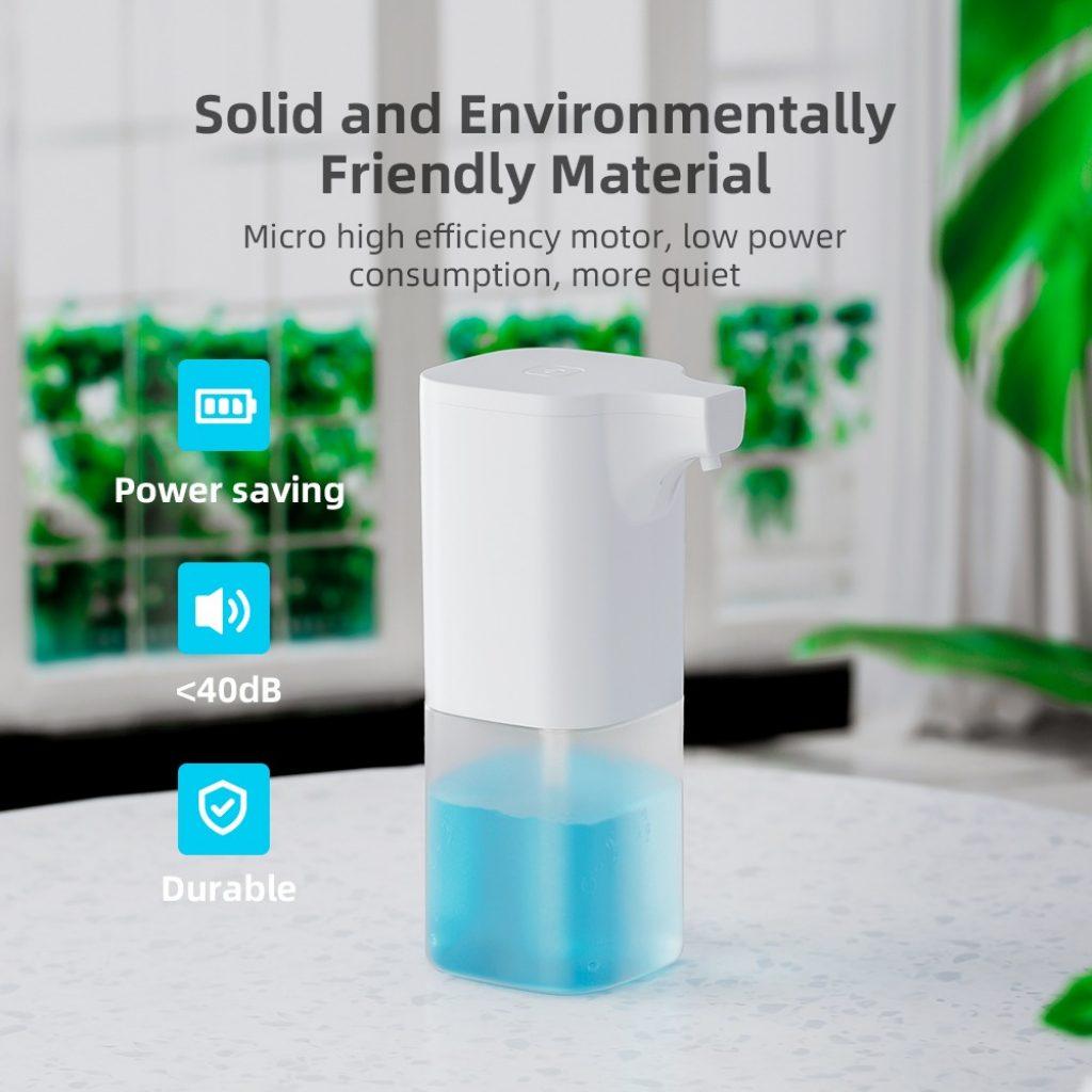 kupong, banggood, Xiaowei X6 350ml automatisk såpedispenser IR-sensor Skum væskedispenser vanntett håndvask såpedispenserpumpe