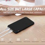 cupom, gearbest, Mini banco de potência portátil de carga rápida bidirecional de 18W 10000mAh Carregador de bateria USB de saída de 2 portas com luz indicadora de status de Xiaomi youpin