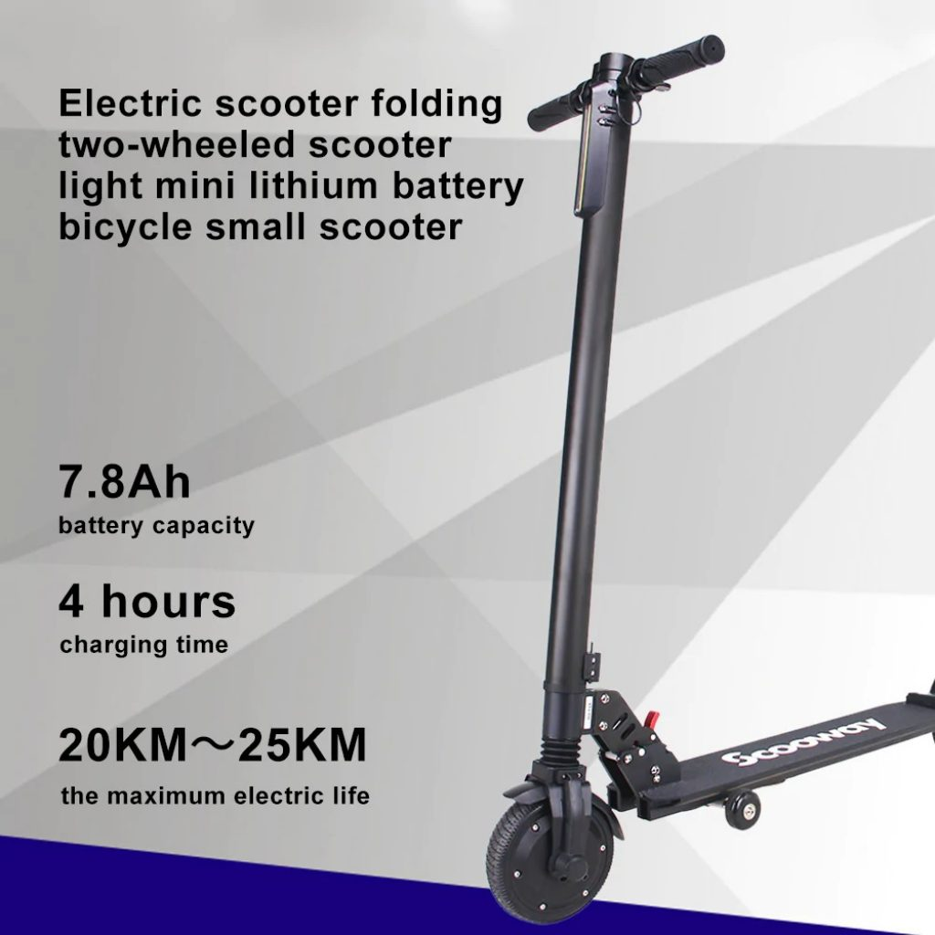 coupon, gearbest, SCOOWAY Electric Folding Scooter