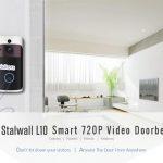 קופון, gearbest, סטאלוול L10 פעמון וידאו חכם אלחוטי מצלמה אבטחת בית איתור PIR מיקרו SD אחסון מקומי