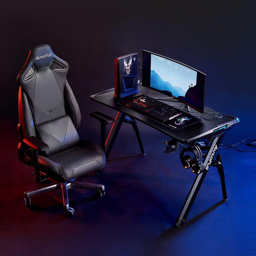 κουπόνι, banggood, XIAOMI μηχανικό αράχνη γραφείο με αναπνοή RGB Light AutoFull Εργονομικό Γραφείο Γραφείο Φορητός υπολογιστής γραφείο πίνακα