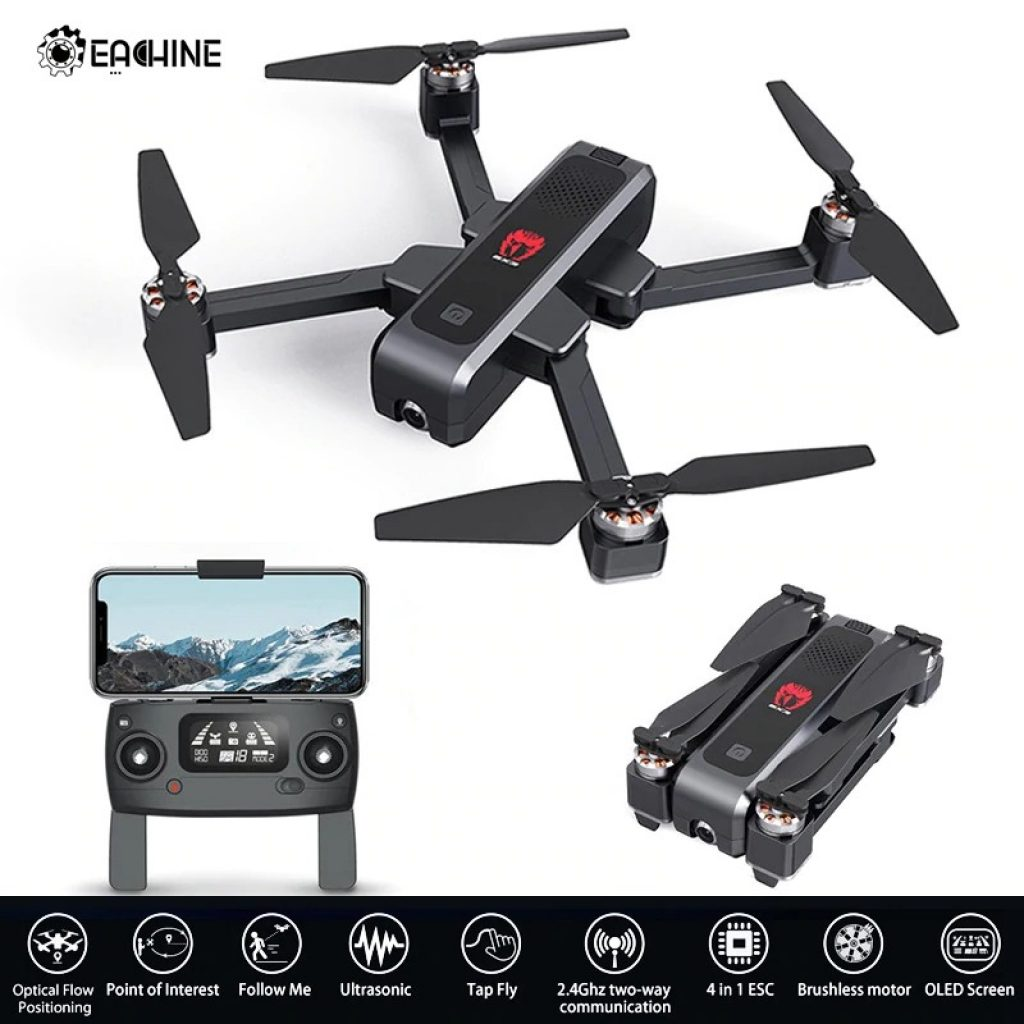 coupon, banggood, Eachine EX3 GPS 5G WiFi FPV with 2K Camera Optical Flow OLED Switchable Remote Brushless Foldable RC Drone Quadcopter RTF