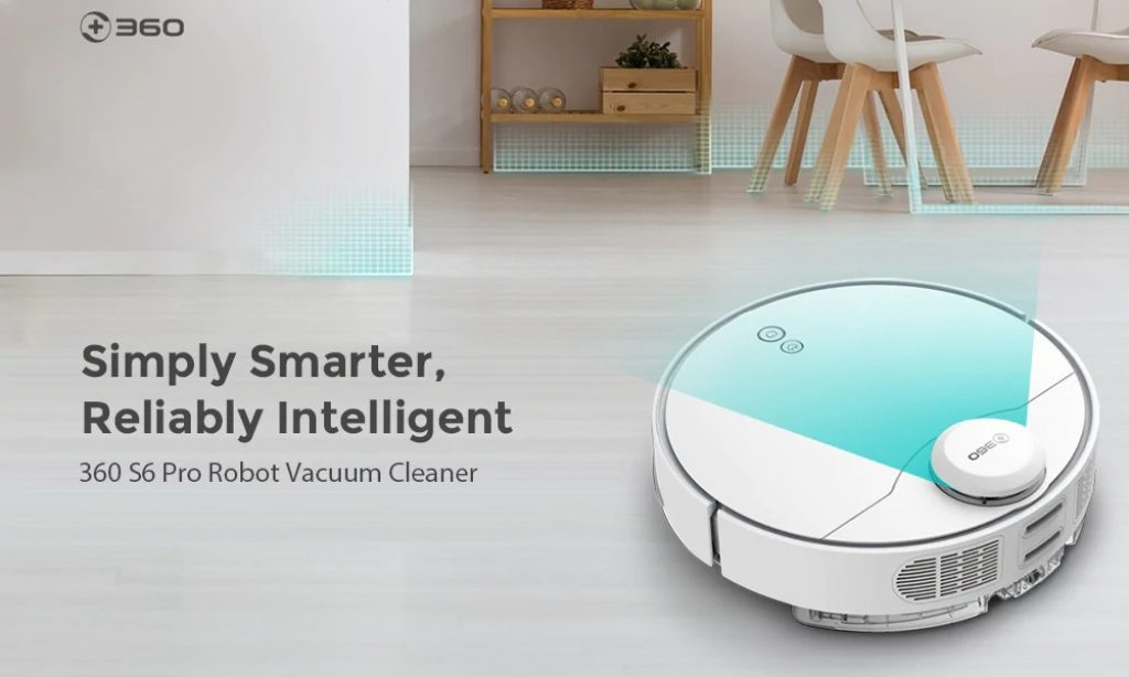 coupon, gearbest, 360 S6 Pro LDS Lidar Laser Navigation Wet and Dry 5200mAh Robot Vacuum Cleaner