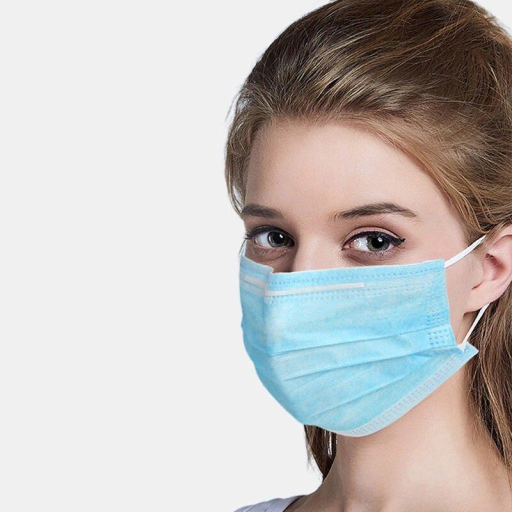 купон, бангод, 50ком. Хируршка маска за једнократну употребу 3 секције Цуттон мекане маске за дисање лица