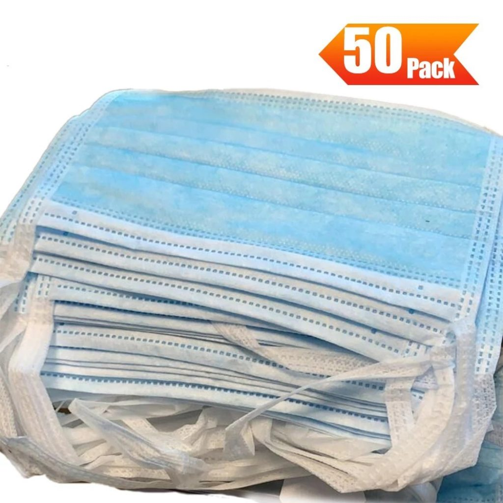 50 pack surgical mask blue
