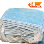 coupon, tomtop, 50Pcs Disposable 3-Layer Medical Sanitary Surgical Mask For Coronavirus