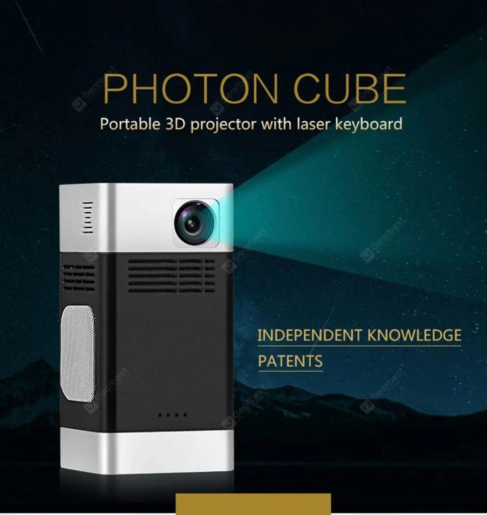 kupon, gearbest, Bilikay FHPC-01 Photon Cubic 1280P HD Proyektor Cerdas Portabel