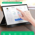BlitzWolf® BW-PCM3 15.6 polegadas Touchable FHD 1080P Tipo C Monitor de computador portátil Tela de exibição de jogos para smartphone Tablet Laptop Consoles de jogos