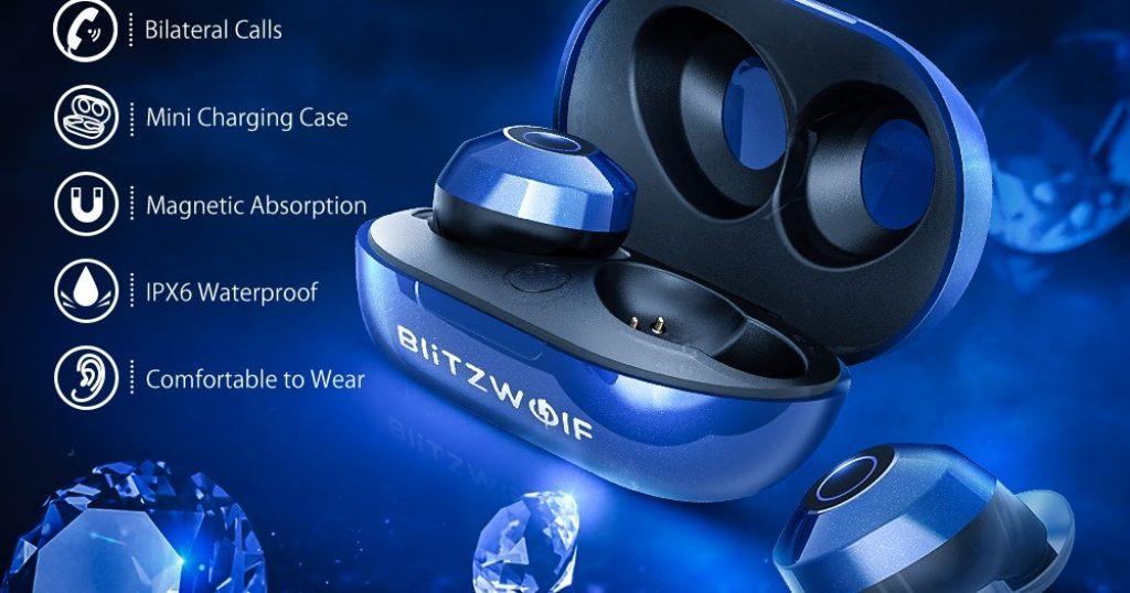 kupon, perlica, Blitzwolf® BW-FYE5 Mini True bežične ušice Stereo slušalice Prijenosni uređaj za punjenje