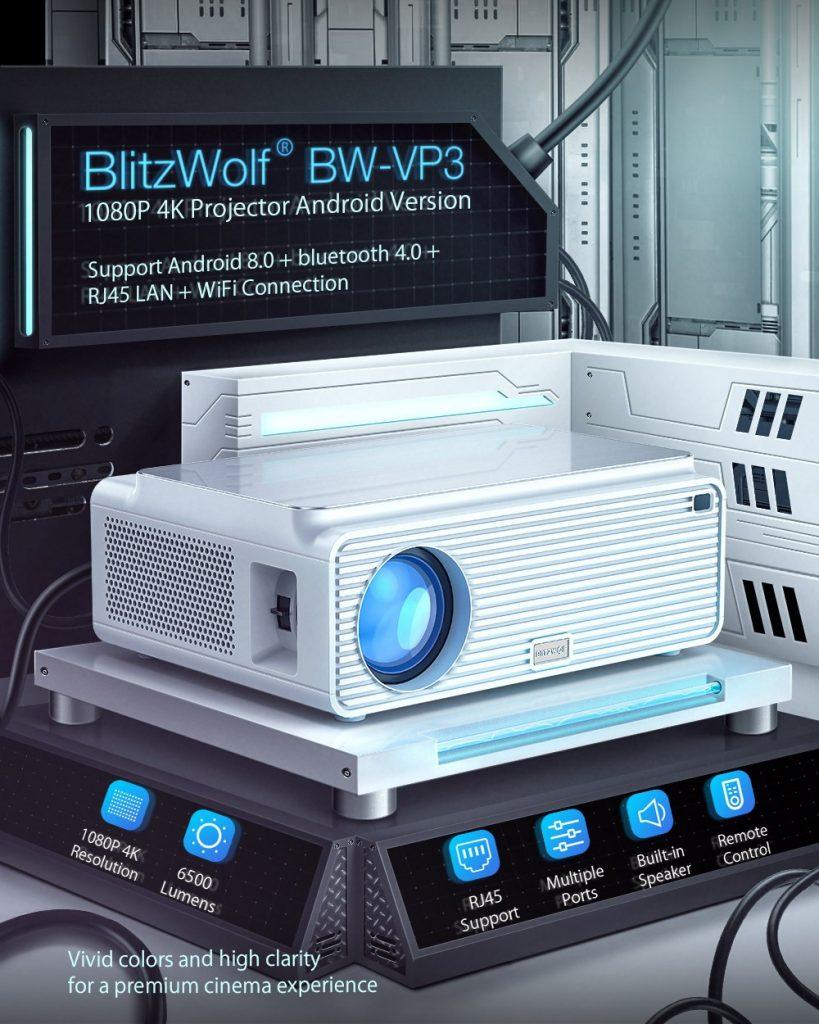 kupong, banggood, Blitzwolf® BW-VP3-projektor