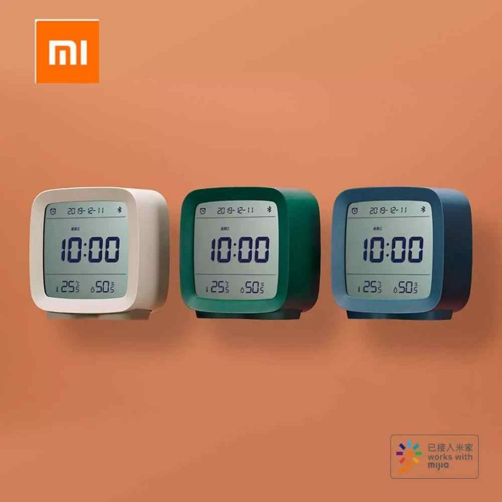 coupon, banggood, ClearGrass CGD1 Mijia APP Control Bluetooth 5.0 Thermometer Hygrometer LCD Screen Adjustable Nightlight Alarm Clock Calendar From Xiaomi Youpin