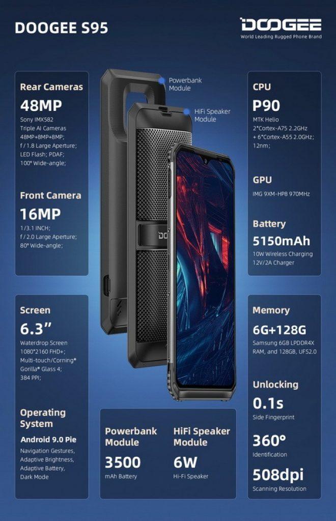 kupong, banggood, DOOGEE S95 Smarttelefon