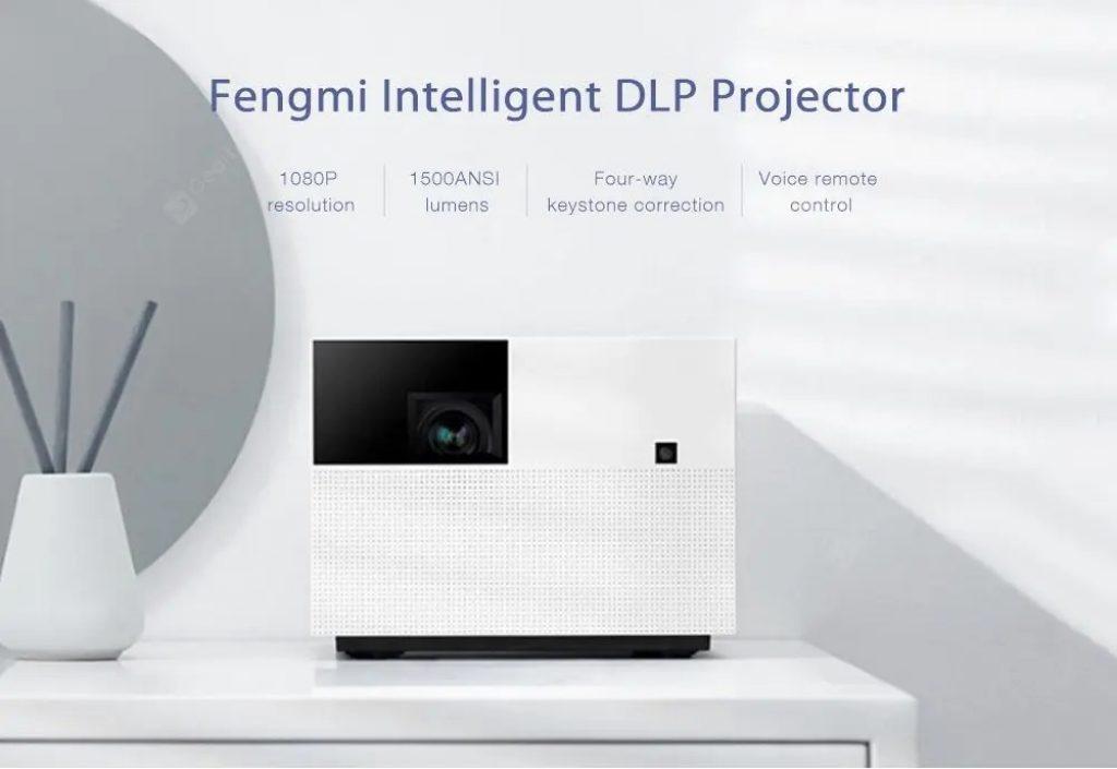купон, передач передач, Fengmi Vogue M135FCN Інтелектуальний DLP проектор від Xiaomi youpin