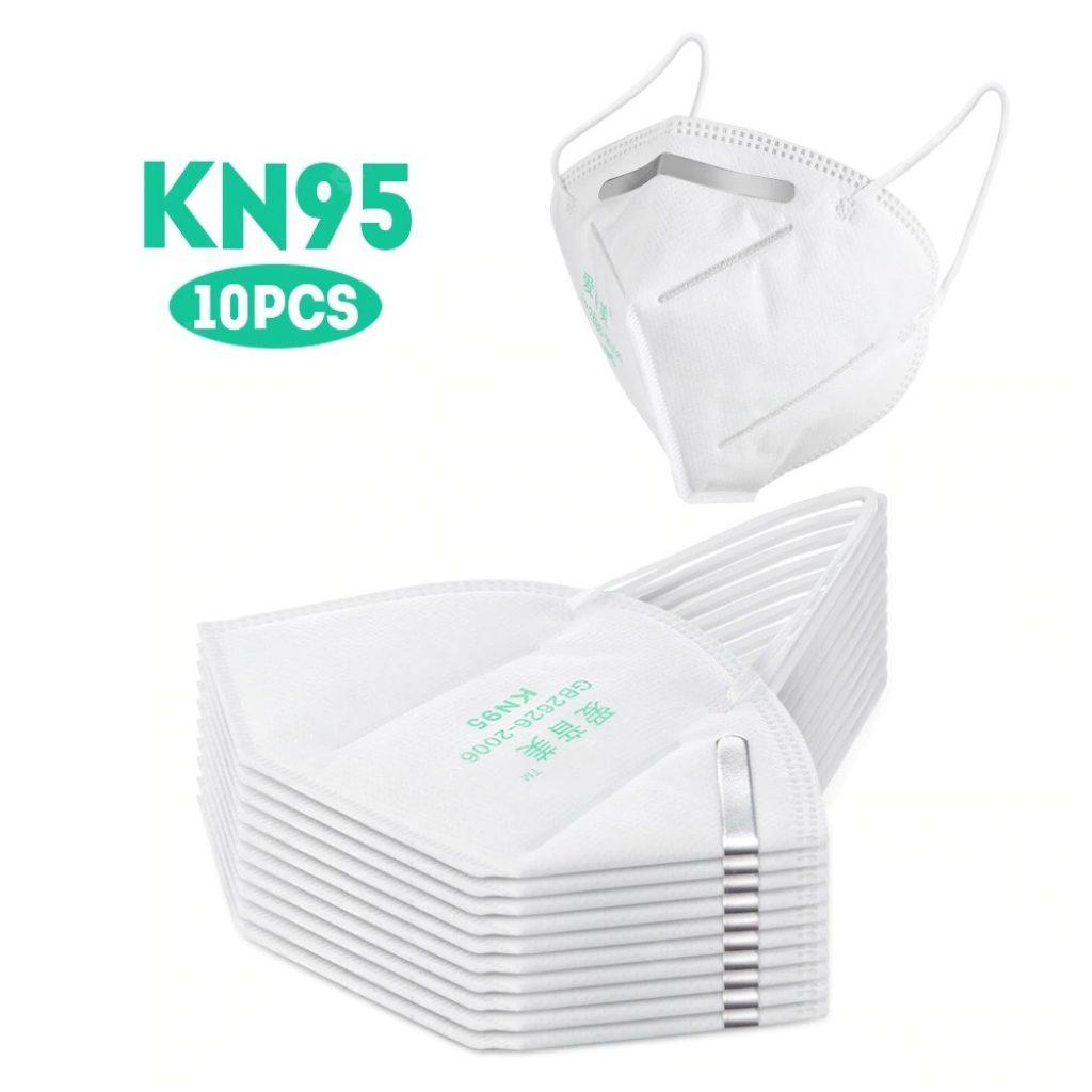 kupon, gearbest, Masker KN95 tertutup Tinggi Tahan Debu Perlindungan Profesional untuk Slit Splash PM2.5 Nyaman Elastis Jenis Pengait Telinga