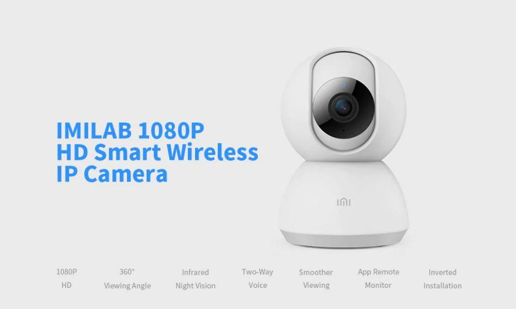 कूपन, धमाकेदार, IMILAB 1080 पी मजबूत नाइट विजन H.265 360 ° PTZ स्मार्ट वाईफ़ाई आईपी कैमरा दो तरह ऑडियो मानव मोशन का पता लगाने बेबी मॉनिटर Xiaomi पारिस्थितिकी तंत्र