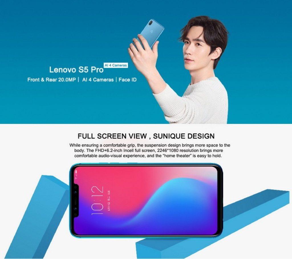 קופון, banggood, Lenovo S5 Pro גרסה גלובלית 6.2 אינץ '6GB RAM 128GB ROM Snapdragon 636 Octa core 4G Smartphone