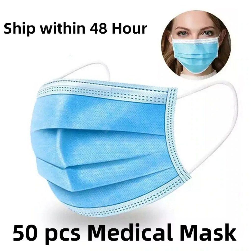 banggood, kupon, gearbest, Medikal na Mask Disposable Anti-dust Ligtas na nakahinga ng Mukha Dental Medical Masks