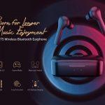 쿠폰, Banggood, QCY T5 Bluetooth 5.0 바 이노 럴 인 이어 이어폰 무선 충전 이어 버드