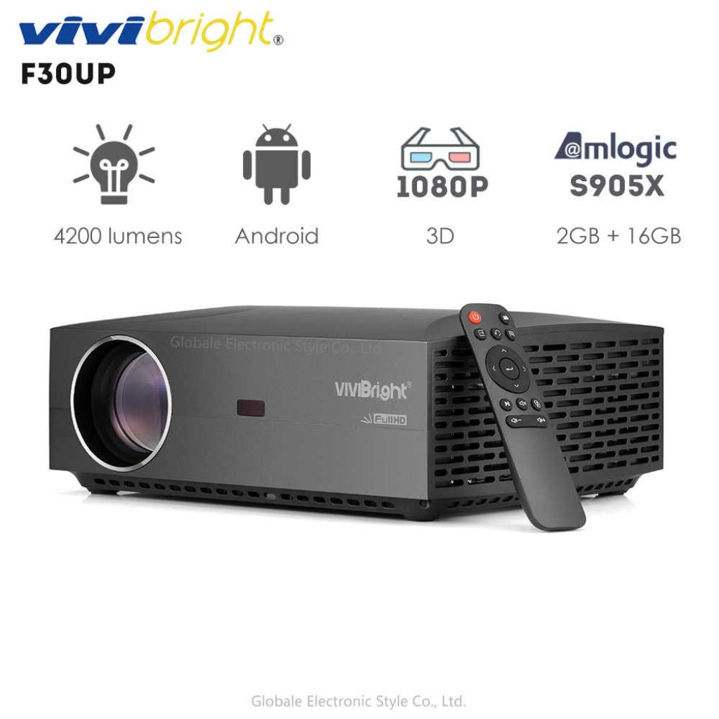 coupon, banggood, Vivibright F30UP Android Version 6.01 Full HD Projector Home Theater