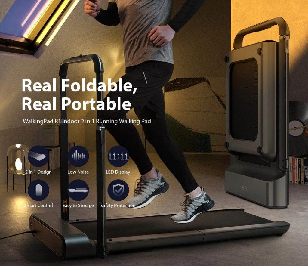 banggood, κουπόνι, κιβώτιο ταχυτήτων, WalkingPad R1 R1 Pro Indoor Portable Folding 2 in 1 Running Walking Pad