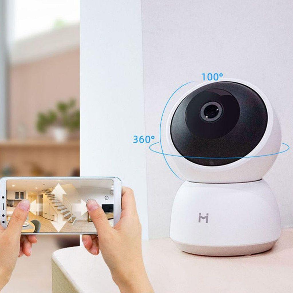 kupon, banggood, XIAOMI IMILAB A1 3MP HD Monitor Bayi 360 ° Panoramic Wireless IP Camera H.256 Perangkat Keamanan Rumah Penuh Warna