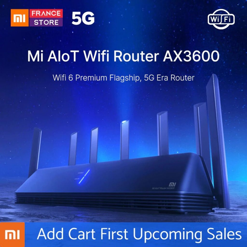 kupon, banggood, Xiaomi AIoT Router AX3600 WiFi 6 2976 Mbps 6 Antena 512MB OFDMA MU-MIMO 2.4G 5G 6 Core Wireless Router