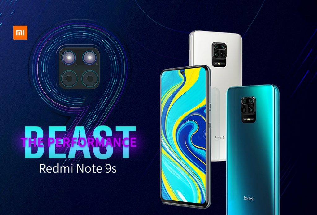 banggood、aliexpress、geekbuying、coupon、gearbest、Xiaomi Redmi Note 9S 48MP Quad Camera Array Mobile Phone Global Version Online Smartphone