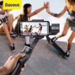 coupon, banggood, Stabilisateur de cardan portable 3 axes Baseus Bluetooth Selfie Stick Outdoor Holder Action Camera