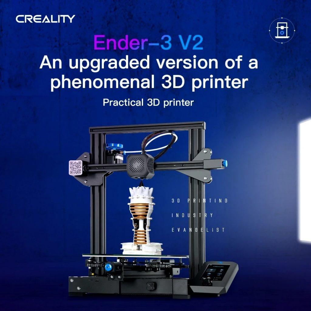 κουπόνι, banggood, Creality 3D® Ender-3 V2 Αναβαθμισμένος DIY 3D εκτυπωτής