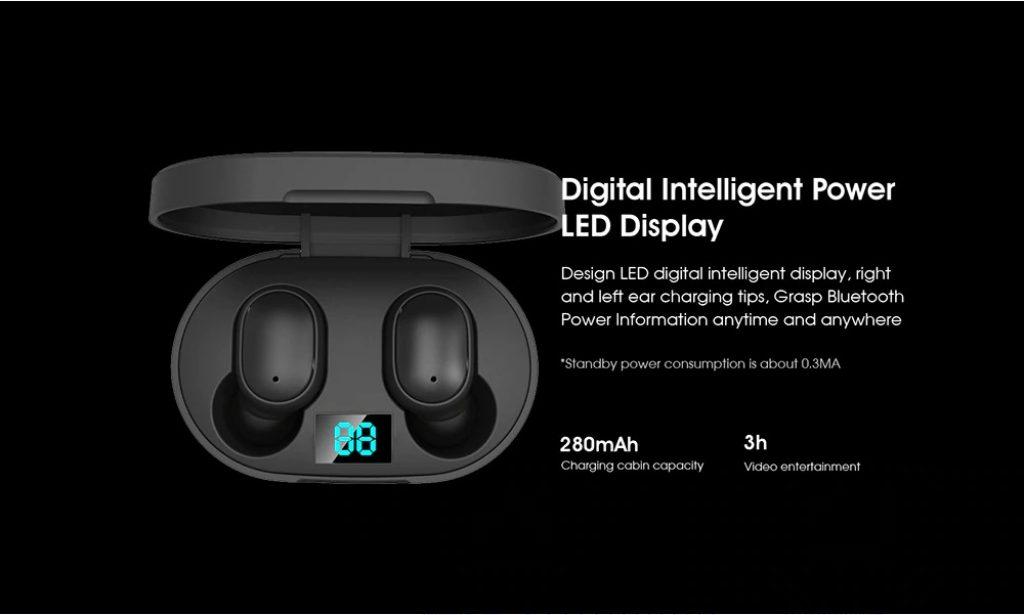 купон, чубчик, ELEPHONE ELEPODS 1 TWS LED Дисплей Bluetooth 5.0 Навушники