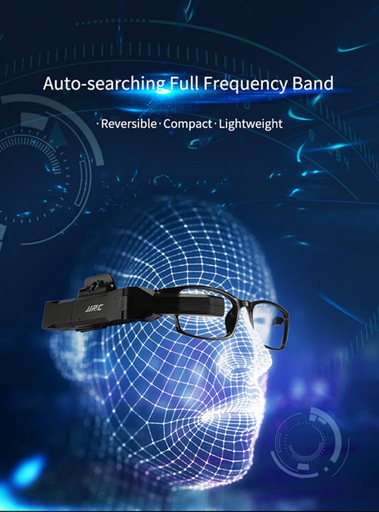 coupon, banggood, JJRC FPV-003 5.8GHz 40CH Full Frequency Band Auto-searching FPV Goggles Monocular Glasses