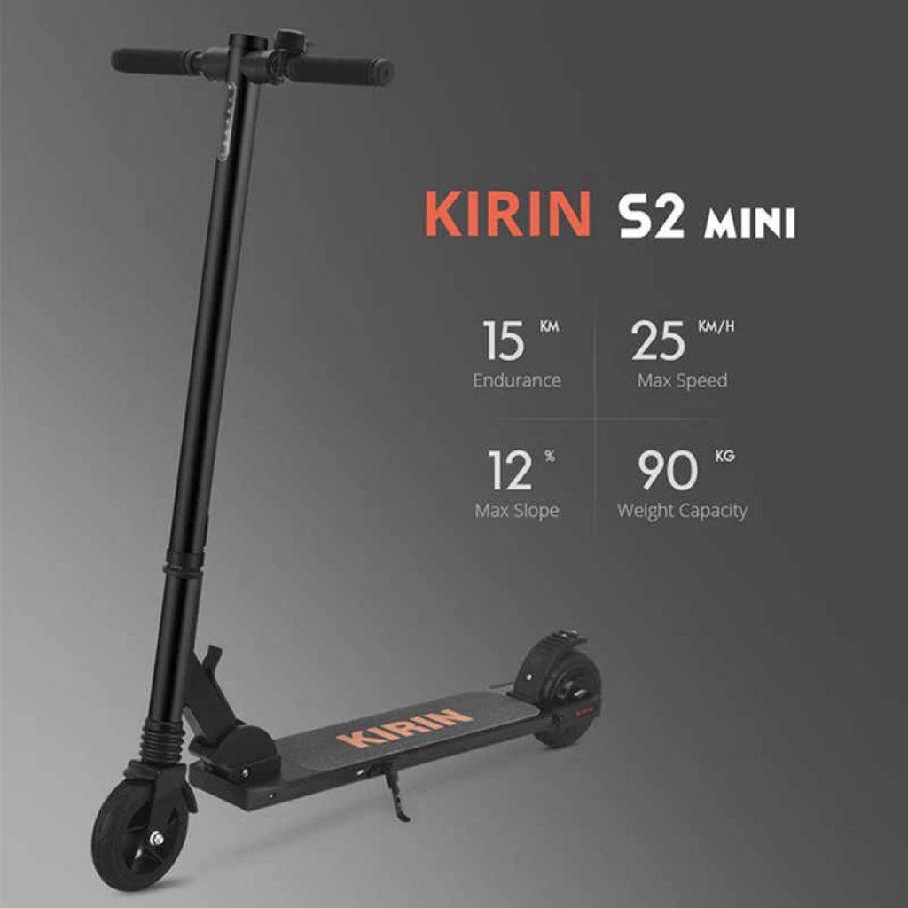 coupon, geekbuying, KUGOO KIRIN S2 Mini Folding Electric Scooter