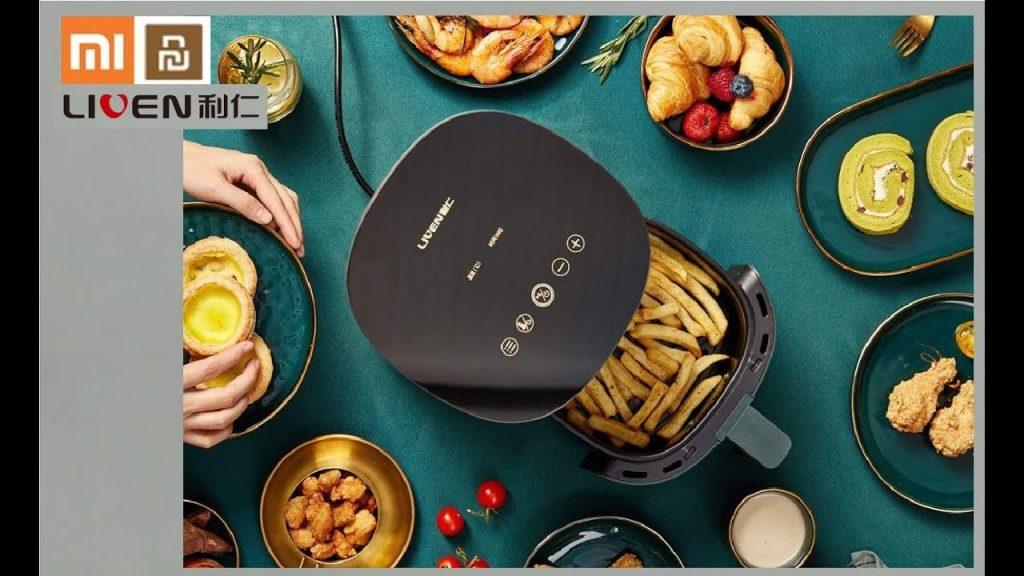 kupon, banggood, LIVEN G-5 Smart Fryer na walang bayad na langis mula sa XIAOMI YOUPIN 1400W Power 2.5L Kapasidad na Fat-free para sa Home