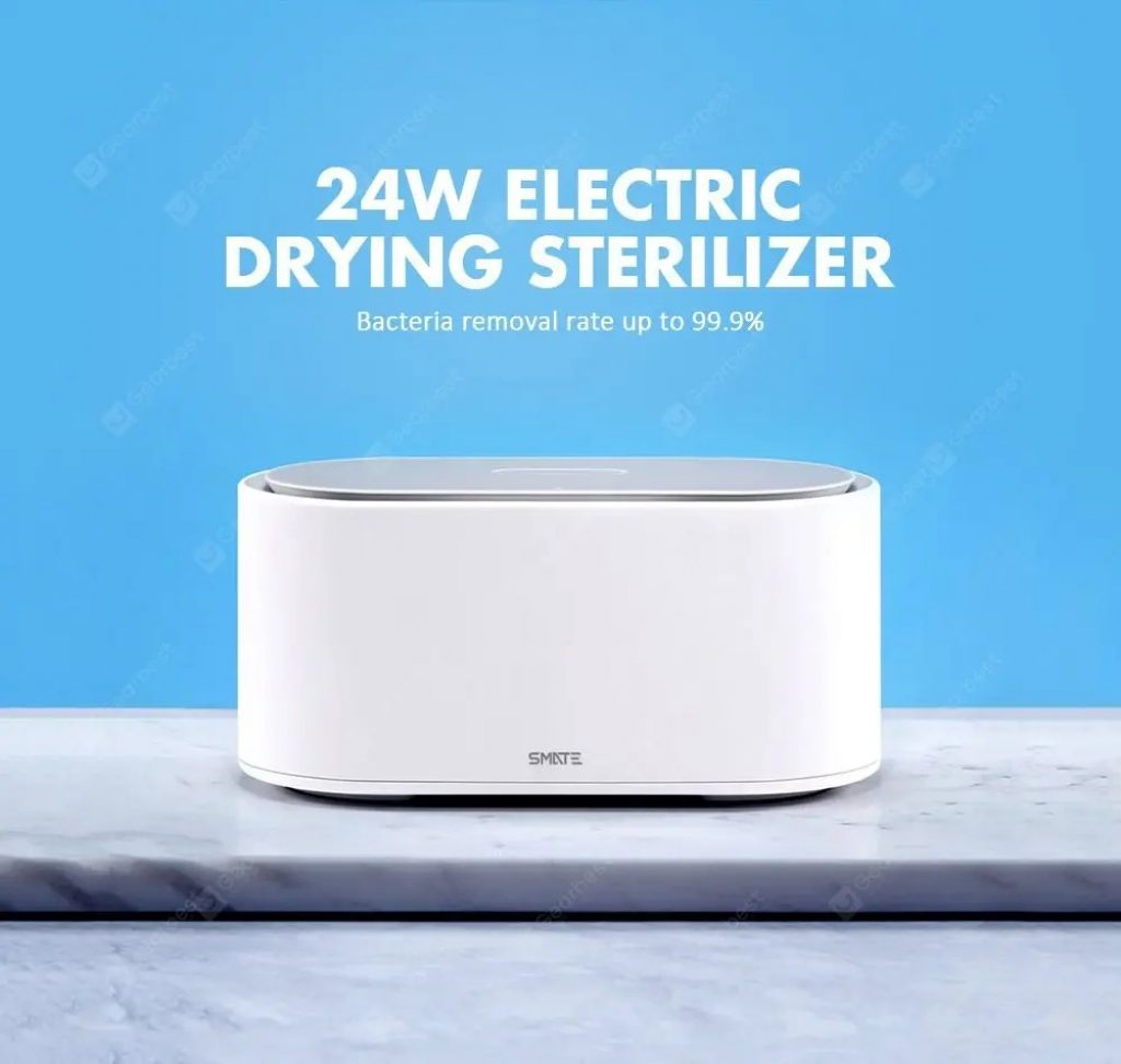 coupon, gearbest, SMATE SX-01 Electric Sterilizer Box UV Light Drying Sterilizer 3 Modes From xiaomi youpin